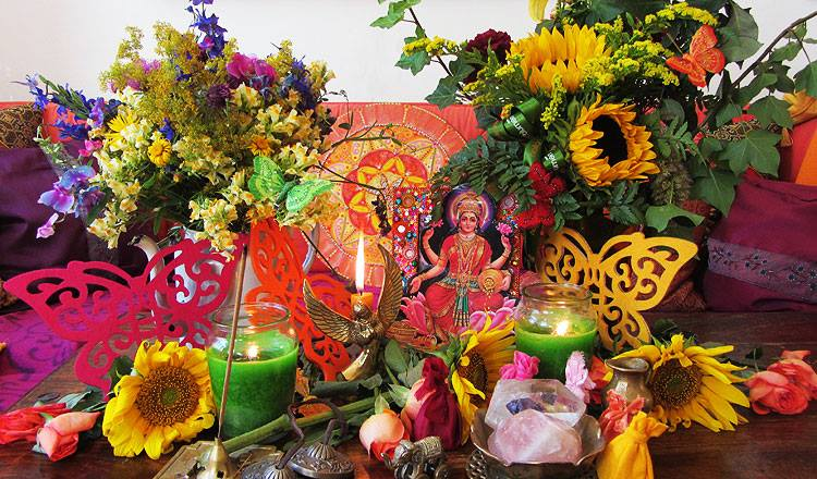 altar lakshmi